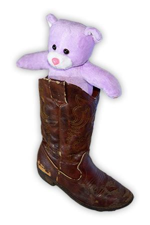 Molly Bear in a Boot