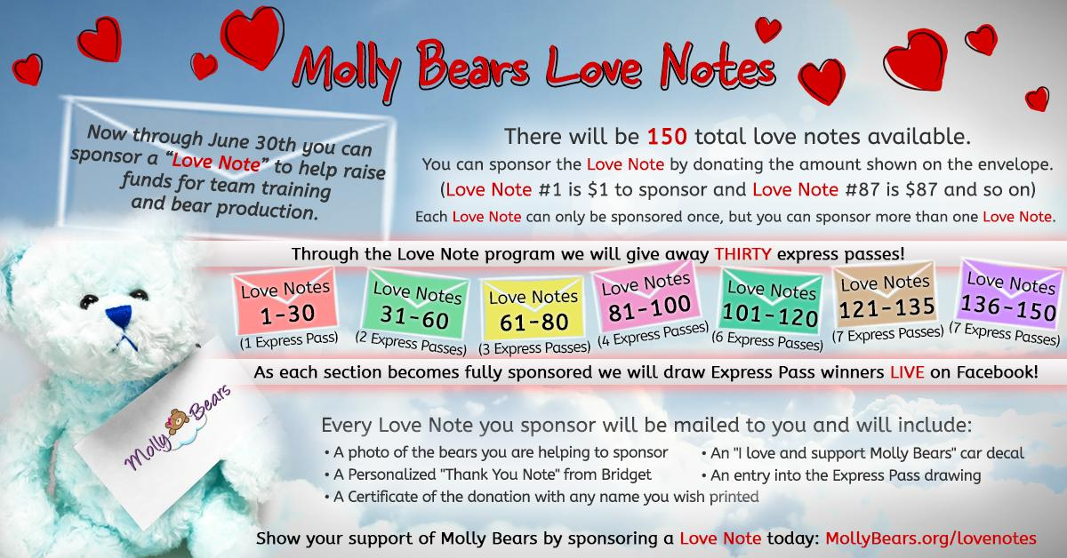 Molly Bears June 2017 Love Notes